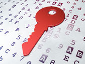 Safety concept: Key on Hexadecimal Code background — Stock Photo