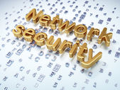 Privacy concept: Golden Network Security on digital background — Stock Photo