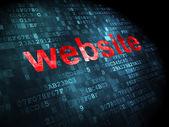 SEO web tasarım konsepti: Web sitesinde dijital arka plan — Stok fotoğraf