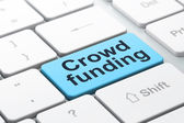 Business concept: Crowd Funding on computer keyboard background — Stock Photo