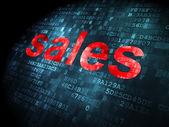 Advertising concept: Sales on digital background — Stock fotografie