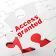 Stock Photo: Privacy concept: Access Granted on puzzle background