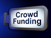 Finance concept: Crowd Funding on billboard background — Stok fotoğraf