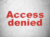 Privacy concept: Access Denied on wall background — Stock Photo