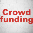 Finance concept: Crowd Funding on wall background — Stock Photo #40245703