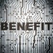 Business concept: circuit board with Benefit — ストック写真 #40245783