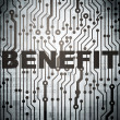 Photo: Business concept: circuit board with Benefit