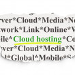 Technology concept: Cloud Hosting on Paper background — Stock Photo #40246405