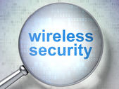 Privacy concept: Wireless Security with optical glass — Stock Photo
