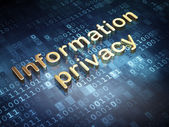 Protection concept: Golden Information Privacy on digital background — Stock Photo