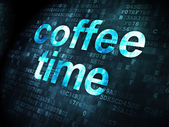 Coffee Time on digital background — Stock Photo