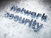 Silver Network Security on digital background — Stock Photo