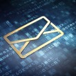 Business concept: Golden Email on digital background — Stock Photo #40416633