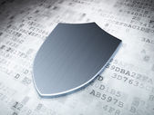 Security concept: Silver Shield on digital background — Stock Photo