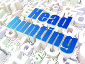 Business concept: Head Hunting on alphabet background — Stock Photo