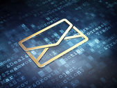 Business concept: Golden Email on digital background — Stock Photo