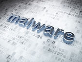 Safety concept: Silver Malware on digital background — Stock Photo