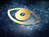 Security concept: Golden Eye on digital background — Stock Photo