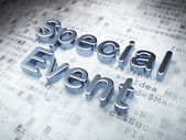 Business concept: Silver Special Event on digital background — Stock Photo