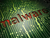 Privacy concept: Malware on circuit board background — Stock Photo