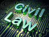 Law concept: Civil Law on circuit board background — Stok fotoğraf