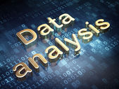 Data concept: Golden Data Analysis on digital background — Stock Photo