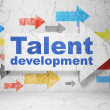 Постер, плакат: Education concept: arrow with Talent Development on grunge wall background