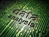 Information concept: Data Analysis on circuit board background — Stock Photo