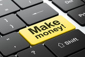 Business concept: Make Money! on computer keyboard background — Stock Photo