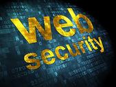 Conceito de desenvolvimento seo web: web segurança em fundo digital — Fotografia Stock