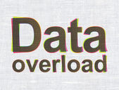 Data concept: Data Overload on fabric texture background — Stock Photo