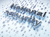 Safety concept: Silver National Security on digital background — Stock Photo