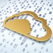 Cloud technology concept: Golden Cloud on digital background — Stock Photo #40502941
