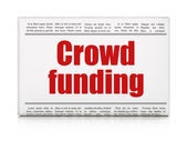 Business concept: newspaper headline Crowd Funding — Foto Stock