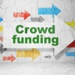 Business concept: arrow with Crowd Funding on grunge wall background — Stock Photo #40580601