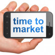 Timeline concept: Time to Market on smartphone — Stock Photo