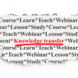 Постер, плакат: Education concept: Knowledge Transfer on Paper background