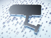 Privacy concept: Silver Cctv Camera on digital background — 图库照片
