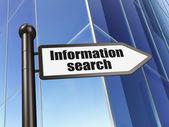 Concepto de datos: búsqueda de información de señal en la creación de fondo — Foto de Stock