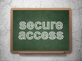Concepto de seguridad: asegurar el acceso en el fondo de la pizarra — Foto de Stock