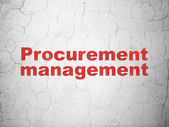 Business concept: Procurement Management on wall background — Stock Photo