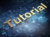 Education concept: Golden Tutorial on digital background — Stock Photo