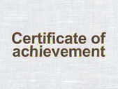 Education concept: Certificate of Achievement on fabric texture background — Stock Photo