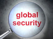 Security concept: Global Security with optical glass — Stock Photo