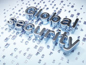 Security concept: Silver Global Security on digital background — Stock Photo