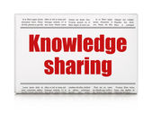 Education concept: newspaper headline Knowledge Sharing — Foto Stock
