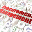 Stock Photo: Business concept: Procurement Management on alphabet background