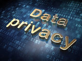 Security concept: Golden Data Privacy on digital background — Stock Photo
