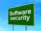 Privacy concept: Software Security on road sign background — Stock Photo