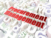 Business concept: Procurement Management on alphabet background — Stock Photo
